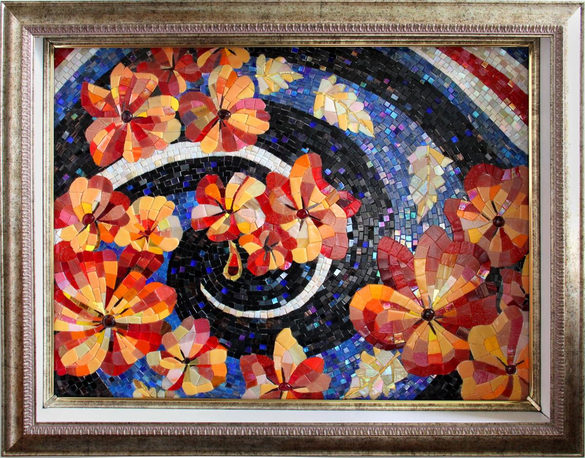 Дипломные работы  Цветочное панно